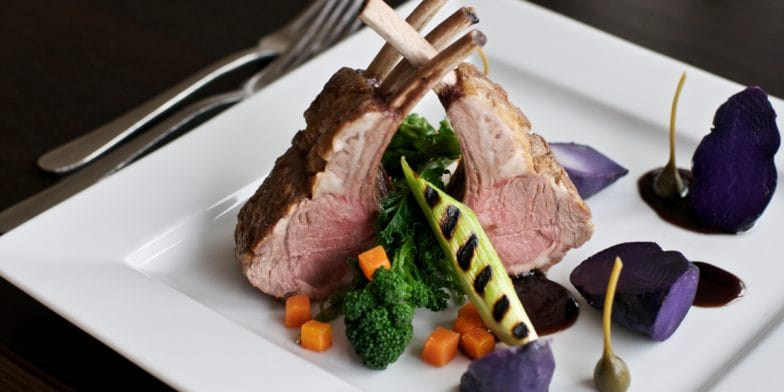 Rack of lamb - lakes restaurant