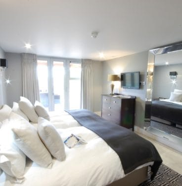 Twin Bedroom - Lodges at Stoke by Nayland