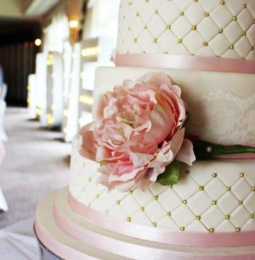 Close up wedding cake