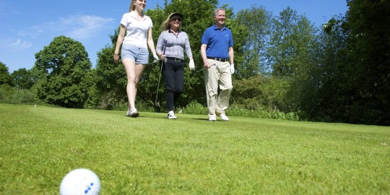 golf - Golfers on Stoke by Nayland course