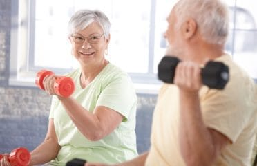 Fitness in later life couple