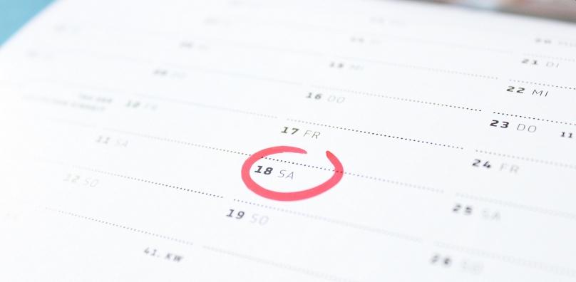 Planning wedding dates