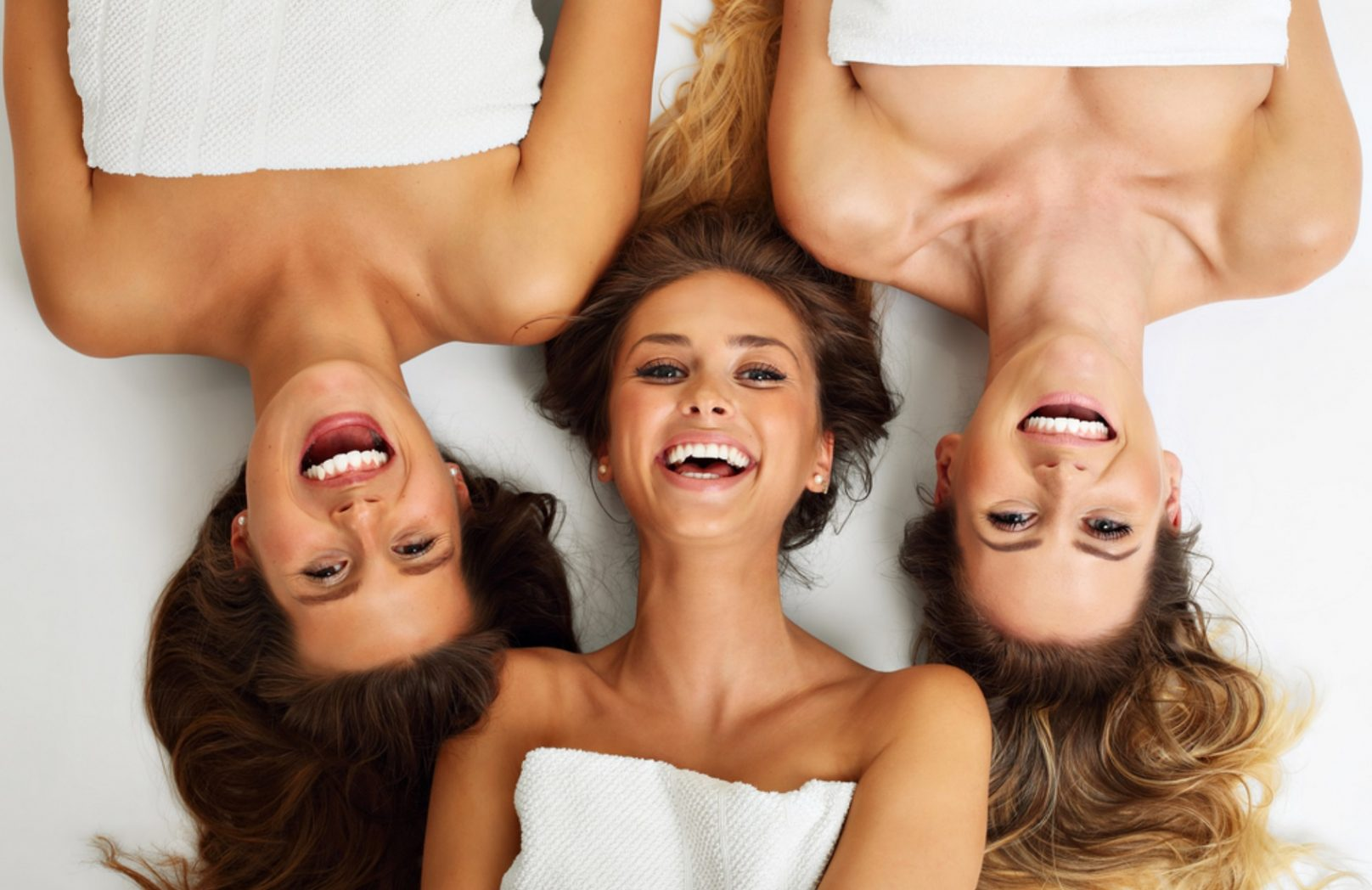Spa group of young women