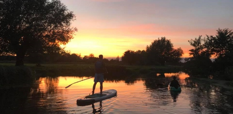 Paddle boarding in Suffolk