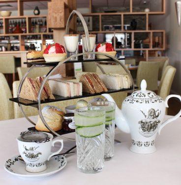 Mint tea in glass cups
