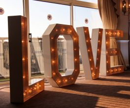 Light up love lettering