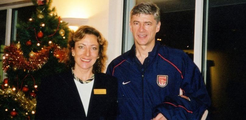 Tamara and Arsenal Manager Arsene Wenger 2000