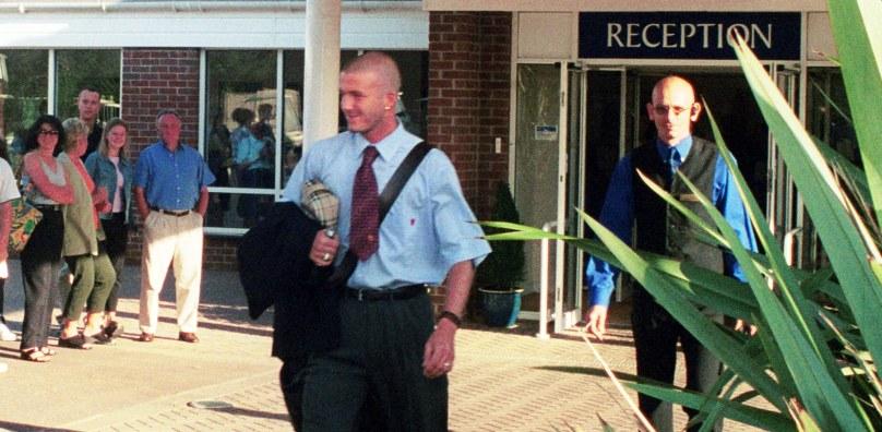 David Beckham and Manchester United at Stoke by Nayland 2000