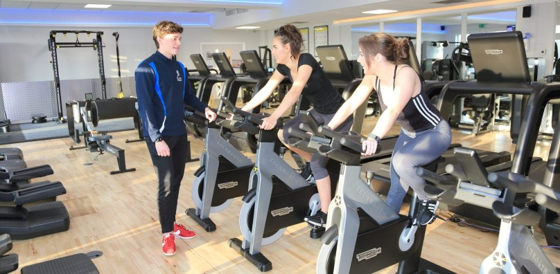 Personal training session Peake Fitness Stoke by Nayland