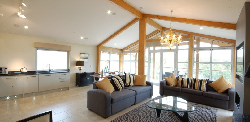 Self catering lodge living room - Stoke by Nayland