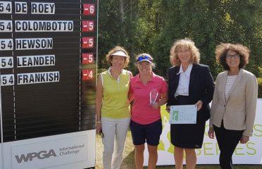 Winner of the WPGA International Challenge at Stoke by Nayland Manon de Roey with l to r Tamara Unwin SbN, Susanna Rendall, SbN and Di Barnard, LETAS