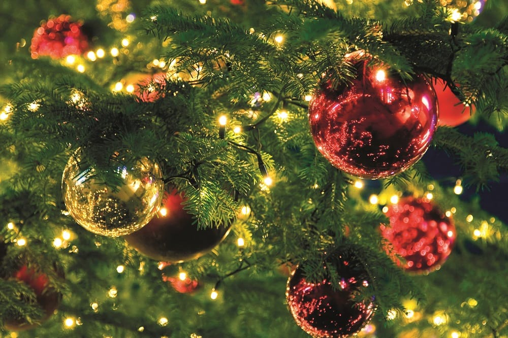 Christmas Tree baubles and lights
