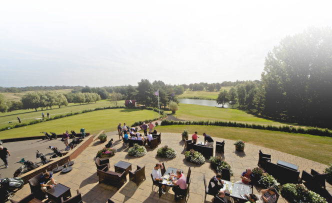 Golf terrace at Stoke by Nayland